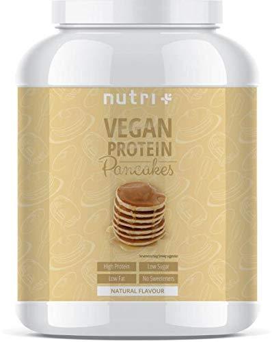 PROTEIN PANCAKE Vegan Natur 1kg - Pancakes Neutral - zuckerarm und fettarm - Eiweiß Pfannkuchen Mix ohne Süßstoffe - Backmischung schnell zubereitet