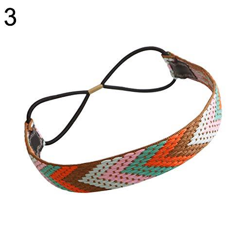 strimusimak Haarband, Ethno-Stil, Boho Haarband, elastisch, Bedruckt, dehnbar, süßes Haaraccessoire 3#