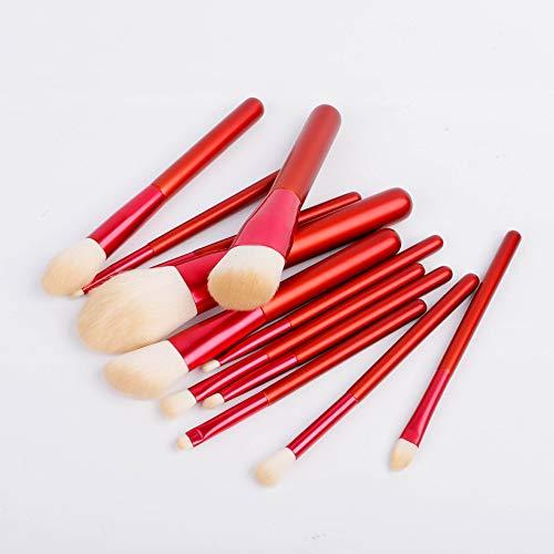 Sets de pinceaux de Maquillage 12 Pinceau de Maquillage Ensemble Imitation Laine Pinceau de Maquillage Maquillage Stylo Outils de beauté Style Chinois rétro Portable Pinceau de Maquillage Rouge