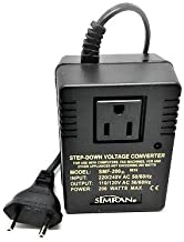 Simran SMF-200 Deluxe 200 Watts Step Down Voltage Converter for International Travel to AC...