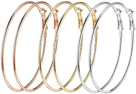 Yellow Chimes Latest Fashion Gold Plated Geometric Design Hoop Dangle Earrings for Women and Girls
