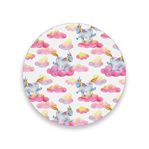 Posavasos con diseño de unicornio de cerámica, con base de corcho para mesa, cocina, decoración del hogar, 20 x 3.9 pulgadas, 2010266