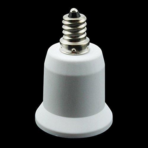 Creazy® E12 to E27 Base Socket Light Bulb Lamp Holder Adapter Plug Converter