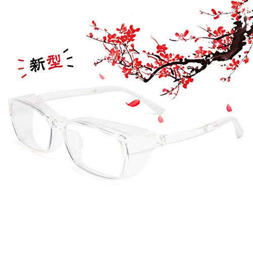 JIMMY ORANGE 花粉 メガネ ゴーグル [ブルーライト 紫外線 粉塵 飛沫 にも対策 ] 目立たない 伊達めがね 曇らない レディース メンズ 眼鏡102 (新型TR-CR)