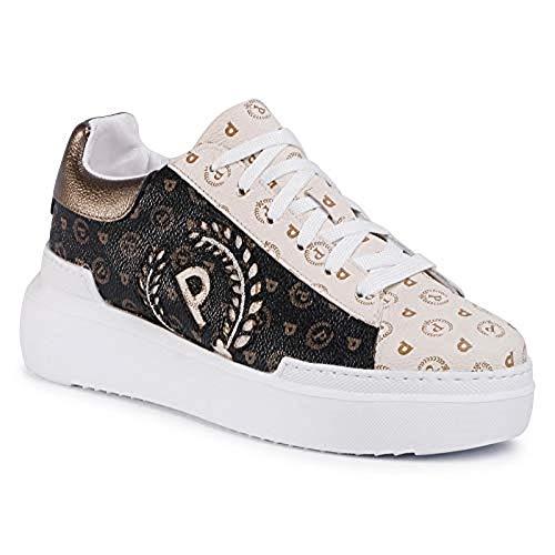 Sneakers für Damen, Schnürsenkel, limitierte Auflage, Kollektion Sommer 2020, Beige - Schwarz Elfenbein - Größe: 40 EU