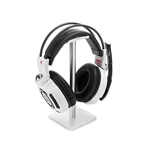 Headphone Stand Hanger,Universal Aluminum Metal Headphone Holder for AirPods Max,HyperX Cloud II,Xbox One,Turtle Beach,Sennheiser,Sony,Bose,Beats PC Gaming Headset Display&Wireless Headphone(White)