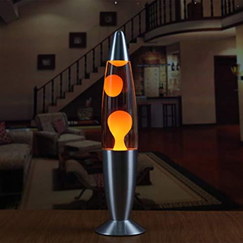 Lavalampe auf Metallbasis Süßes Wachs Stil Vulkan Nacht Nachtlicht Qualle Nachtlicht Blendlicht Weiß Lava Lampen Beleuchtung (Orange)