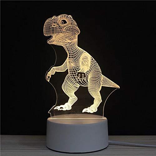 Soleiler 3D LED Lampe d'illusion - LED Lampe nuit Optique, Veilleuse acrylique avec câbles USB Chambre Bureau Décoration Table de Bébé Enfant Cadeau De Noël Fête Anniversaire (Dinosaure)