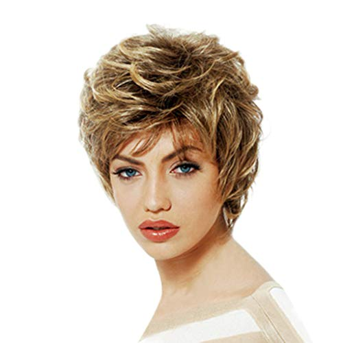 wuliLINL Girls Fashion Short Golden Wig Women Loose Curly Blanche Devereaux Cosplay Hair wigs