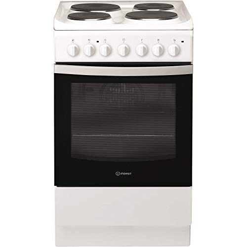 Indesit IS5E4KHW 50cm Single Oven Electric Cooker With Electric Hob - White
