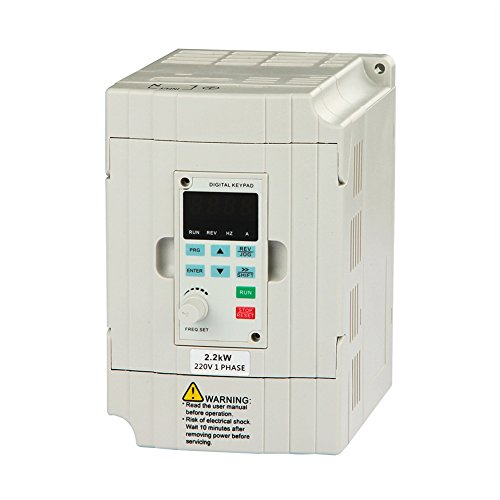 LAPOND SVD-ES Single Phase VFD Drive VFD Inverter Professional Variable Frequency Drive 2.2KW 3HP 220V 10A for Spindle Motor Speed Control (VFD-2.2KW)