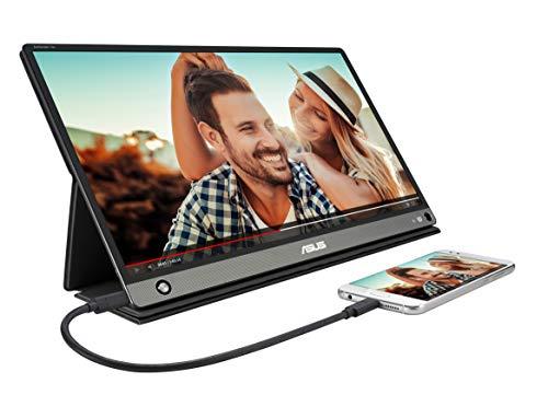 Asus ZenScreen MB16AMT tragbarer USB-Monitor (15,6 Zoll, Full HD, USB Typ-C, IPS, Micro-HDMI, integrierter Akku) dunkelgrau