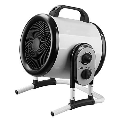 ZY Heater Elektroheizungen Industriegebläse Kühlkörper Leistungsstarke Kippheizung 3000W Wasserdichter, leiser Lüfter für Werkstatt, Garage oder Büro Mit einstellbarem Thermostat