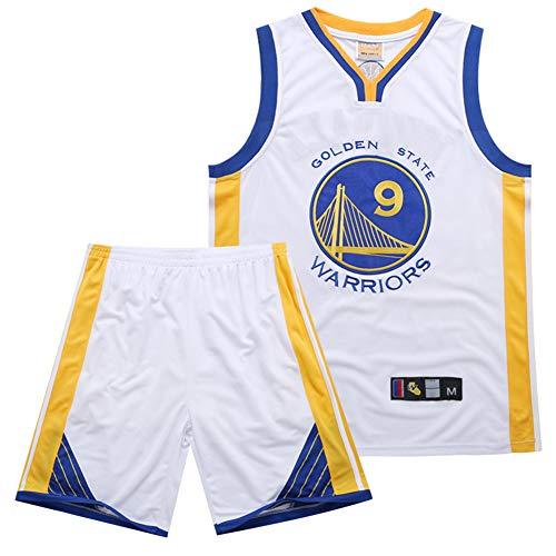 CAMILYIN Baloncesto Jersey NBA # 9 Tela Respirable Fresco Retro de Las Jersey, Malla Unisex con BaloncestoTranspirable Bordó La Camiseta Camiseta S-XXXL,Blanco,L
