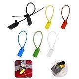 150pz sigilli di sicurezza,6 colori fascette plastica,etichette di sicurezza per cavi/abbigliamento/scarpe/borse/trasporto logistico(giallo/rosso/blu/verde/bianco/nero)