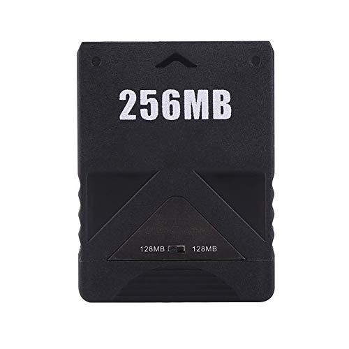 AMONIDA 256M Speicherkarte High Speed Memorykarte für Sony Playstation 2 PS 2 Spiele Zubehör, Schwarz