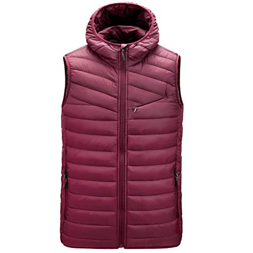 Winter Fall Hiking Warmth Down Vests Durable Sleeveless Vest Jacket for Man's, Collapsable Outerwear