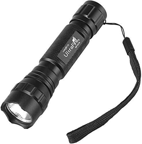 ULTRAFIRE 501B Linterna LED Táctica Pequeña 800 Lúmenes Modo Singular Mini Linterna Portátil Impermeable