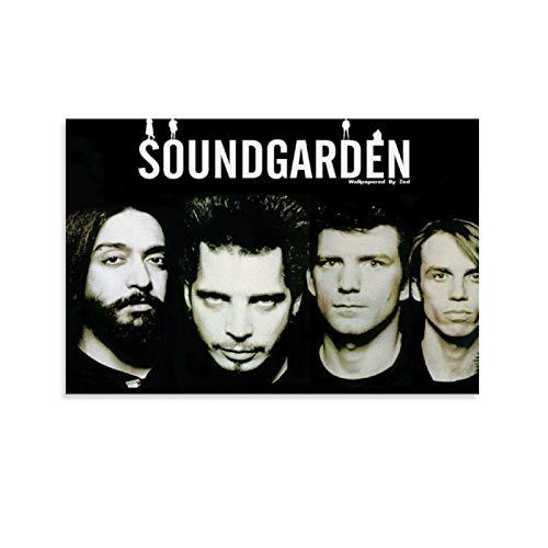 Póster de 37 lienzos y arte de pared de Soundgarden moderno para deco