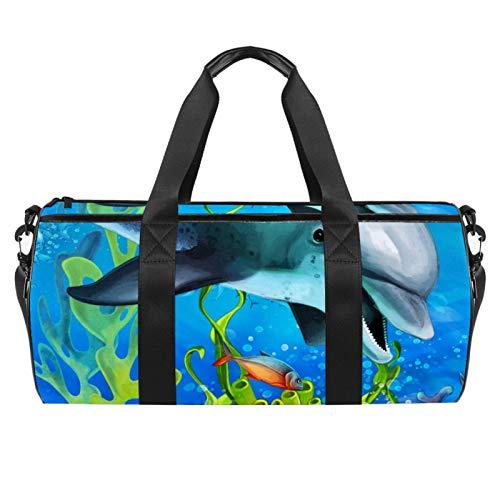 KAIXINJIUHAO Travel Duffel Bag for Women and Men 18',Dolphin