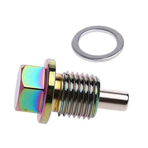 ESden M14 x 1,5 Aluminium Magnetischer Ölablassschraube für Ölablassschraube