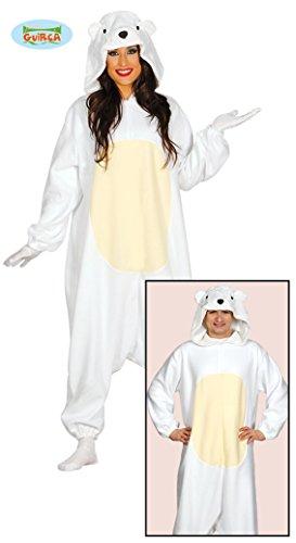 Guirca- Halloween Disfraz Oso Polar, Color Blanco (84585)