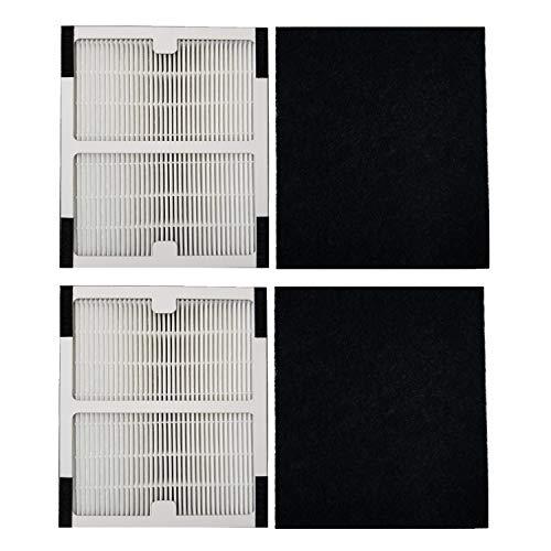 Replacement Idylis Air Purifier Filter A - 2 Pack Hepa & Carbon Filter Set for Idylis Air Purifiers Idylis IAP-10-100 Idylis IAP-10-150, AC-2119, Model # IAF-H-100A, IAFH100A
