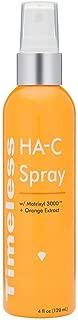 TIMELESS HA SPRAY: HYALURONIC ACID, MATRIXYL 3000 All-in-One Moisturizing Anti-aging Refreshing Spray with 4 oz / 120 ml (Orange)