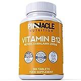 Vitamin B12 1500mcg - Methylcobalamin - 365 Tablets - 12 Month Supply