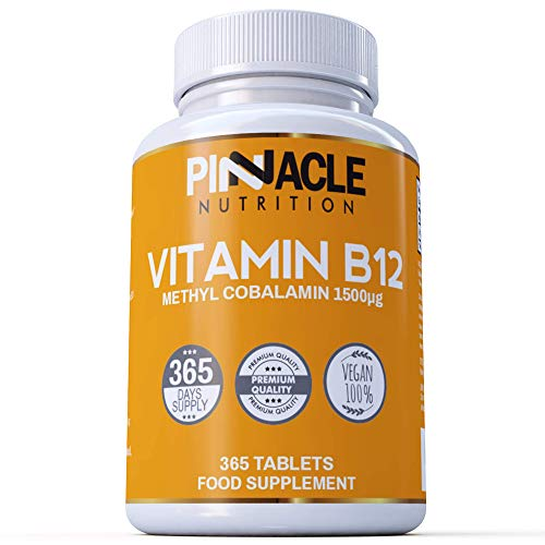 Vitamin B12 1500mcg - Methylcobalamin - 365 Tablets - 12 Month Supply