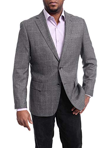 Black and Gray Plaid Sports Coat