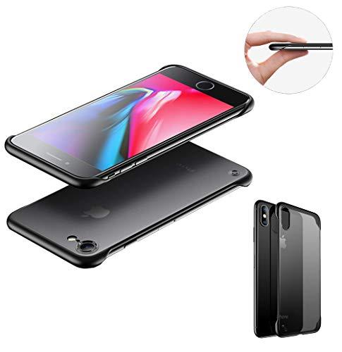 SevenPanda für iPhone 6S Plus Rahmenlose Schutzhülle Durchscheinend Matte Textur Ultradünne Slim Fit Schutzhülle mit Ringhalter Fingergriff-Schutzhülle für iPhone 6 Plus 6S Plus 5.5 Zoll - Schwarz
