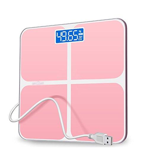 LVZAIXI Precisie Body Weight Balance Met Extra Groot LCD Display 180 Kg/400 Lb Weegschaal En Step-On Technologie Digitale Badkamer Schaal