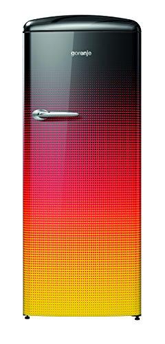 Gorenje OBR 153 DE Kühlschrank/A+++ / 154 cm / 124 kWh/Jahr / 229 L Kühlteil / 25 L Gefrierteil/Flaschengitter/schwarz/rot/gold