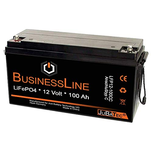LiFePO4 Akku 12V 100Ah mit BMS (Batterie Management System), Bluetooth:ohne Bluetooth