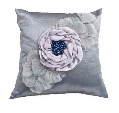 Debage Inc. Silver Rose Decorative Pillow