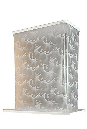 ECO-DuR,4024879010539,1 Paar Ersatzvorhänge ECK Duschrollo 134x62 cm - Ocean weiß