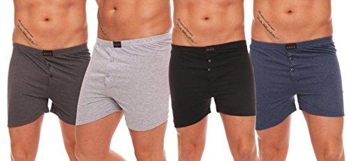 4, 6 of 8 losse boxershorts losse pasvorm topkwaliteit met handgreep en knop maat 5-10 naar keuze.