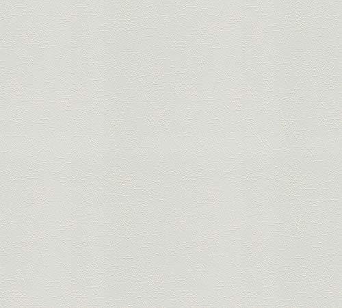 A.S. Création überstreichbare Vliestapete Meistervlies Tapete 25,00 m x 1,06 m weiß Made in Germany 573018 5730-18