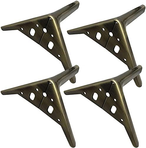 4 patas de metal para muebles, accesorios de herrajes para muebles, patas de mesa, patas de gabinete de repuesto de triángulo de diamante moderno, para armario, sofá, silla, mesa de centro otoman