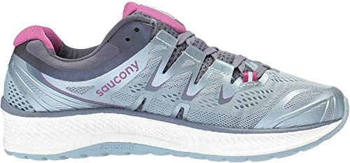 Saucony Women's Triumph ISO 4 Running Shoe, Fog/Grey, 5 Wide US