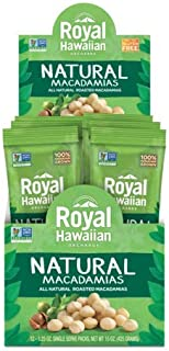 Royal Hawaiian Roasted Unsalted Macadamia Nuts--Snack Pack (Natural)