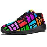 Zapatillas deportivas para correr para mujer, coloridas, educativas, de malla, transpirables, para...