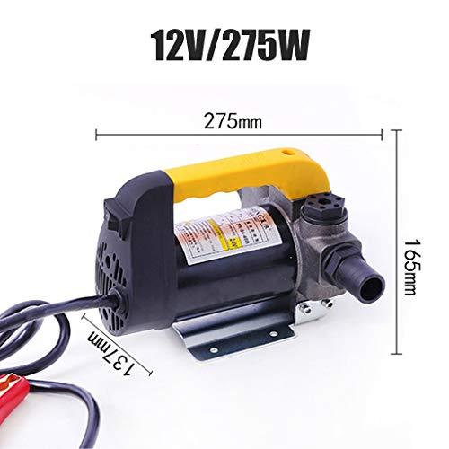 Elektrische oliepomp, 12V / 24V / 220V zelfaanzuigende pomp, Transfer Pomp, dieselpomp, All-koper Motor High-power Fast Oil Extractor, Duurzame aluminiumlegering Waaier (Color : 12V)