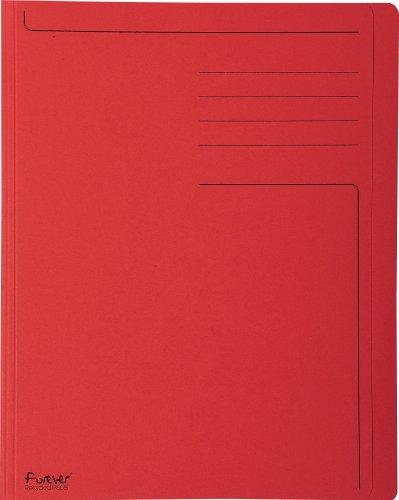 Exacompta 441003E - Lote de 100 Subcarpetas Forever 280 Impresas y con Portada Más Estrecha, Color Rojo