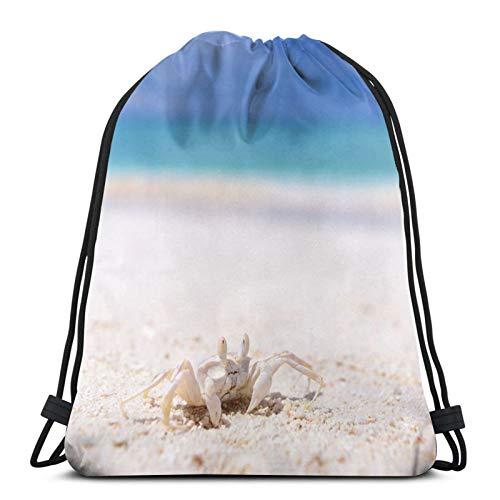 Affordable shop Mochila de verano con cordón para descanso de arena de mar de cangrejo, ligera, para gimnasio, viajes, yoga, bolsa de hombro para senderismo, natación, playa