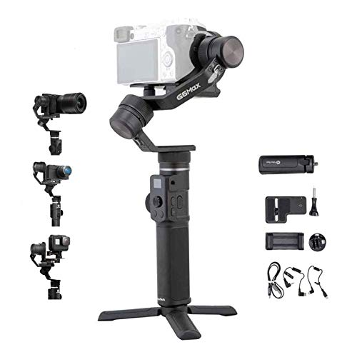 FeiyuTech G6 MAX 3-Axis Stabilized Handheld Gimbal for Mirrorless, Sports Cameras and Compact Cameras,Smartphones, Splash Proof, Type C Cable Control Sony & Panasonic Camera,Tripod