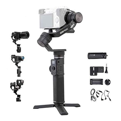 FeiyuTech G6 Max Upgraded 3-Achsen-stabilisierter Handkardan für spiegellose, Sport- und Kompaktkameras, Smartphones, spritzwassergeschützte Kabelsteuerung Sony & Panasonic, Stativ