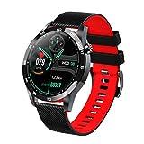 LTLJX Smartwatch Impermeable IP67 Hombre Mujer Inteligente Reloj con Pulsómetro Blood Pressure Sueño Podómetro Pulsera Deporte Reloj para Android y iOS Teléfono móvil,Negro