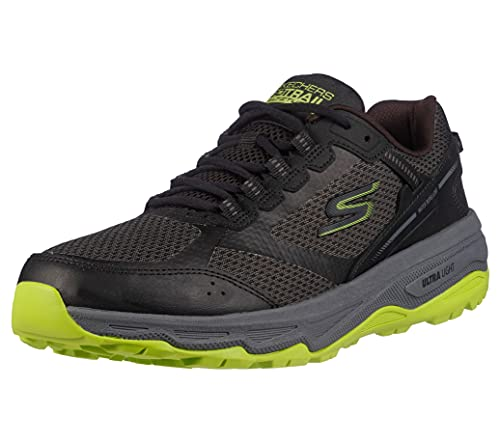 Skechers Men's Go Run Altitude - Trail Running Walking Hiking Shoe with Air Cooled Foam, Black/Lime, 8.5